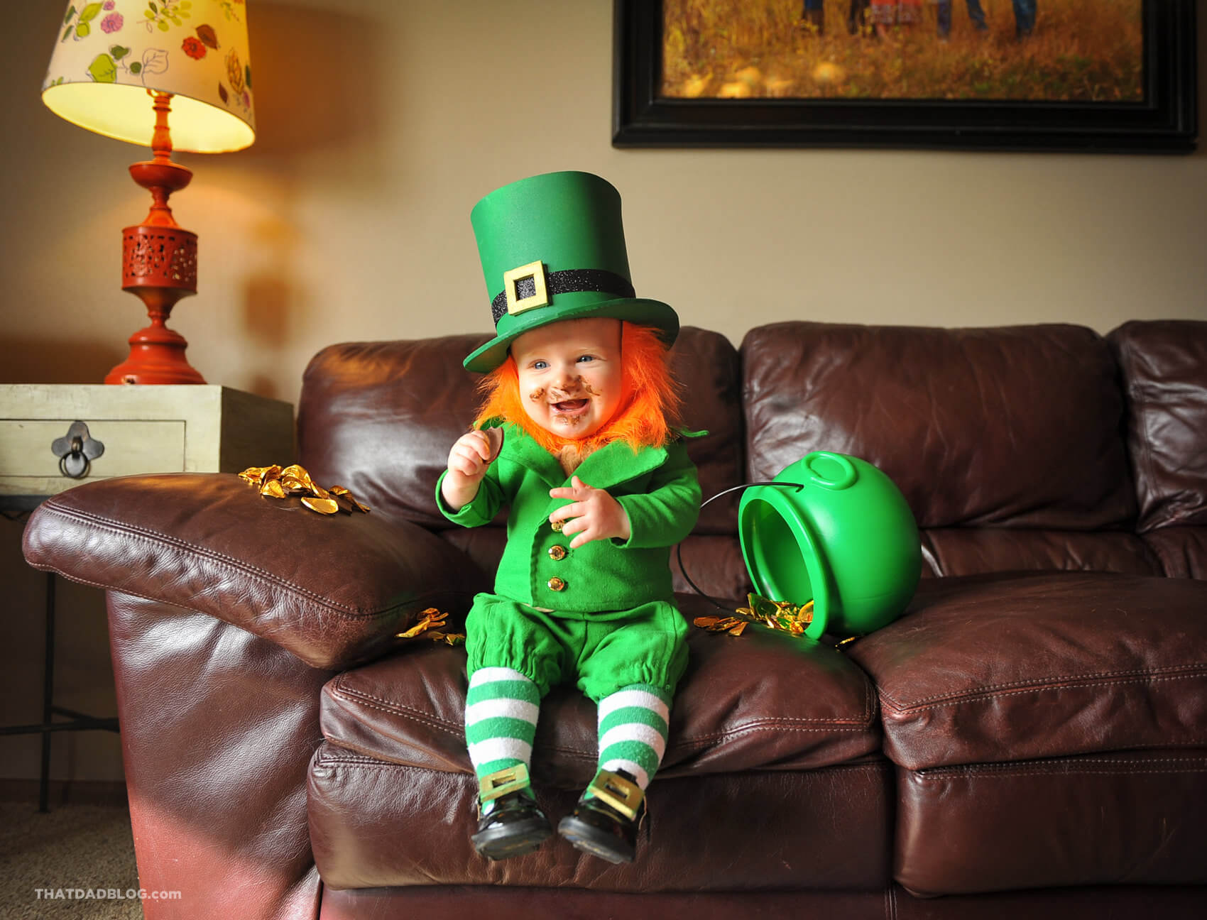Real Life Leprechaun - That Dad Blog Cute Baby Pointing Finger